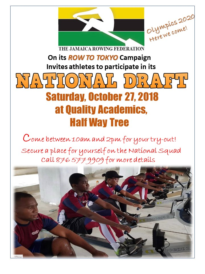 INVITATION TO JAMAICA ROWING FEDERATION